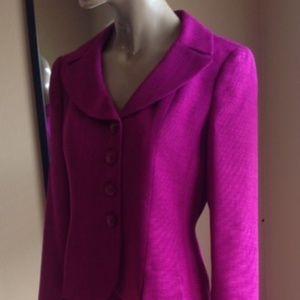 Le Suit Women's Skirt Suit - Purple EUC!